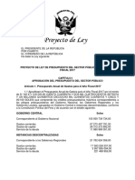 PL Presupuesto 2017