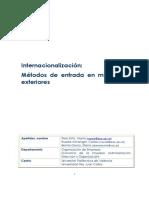 Internacionaliz. de Empresas