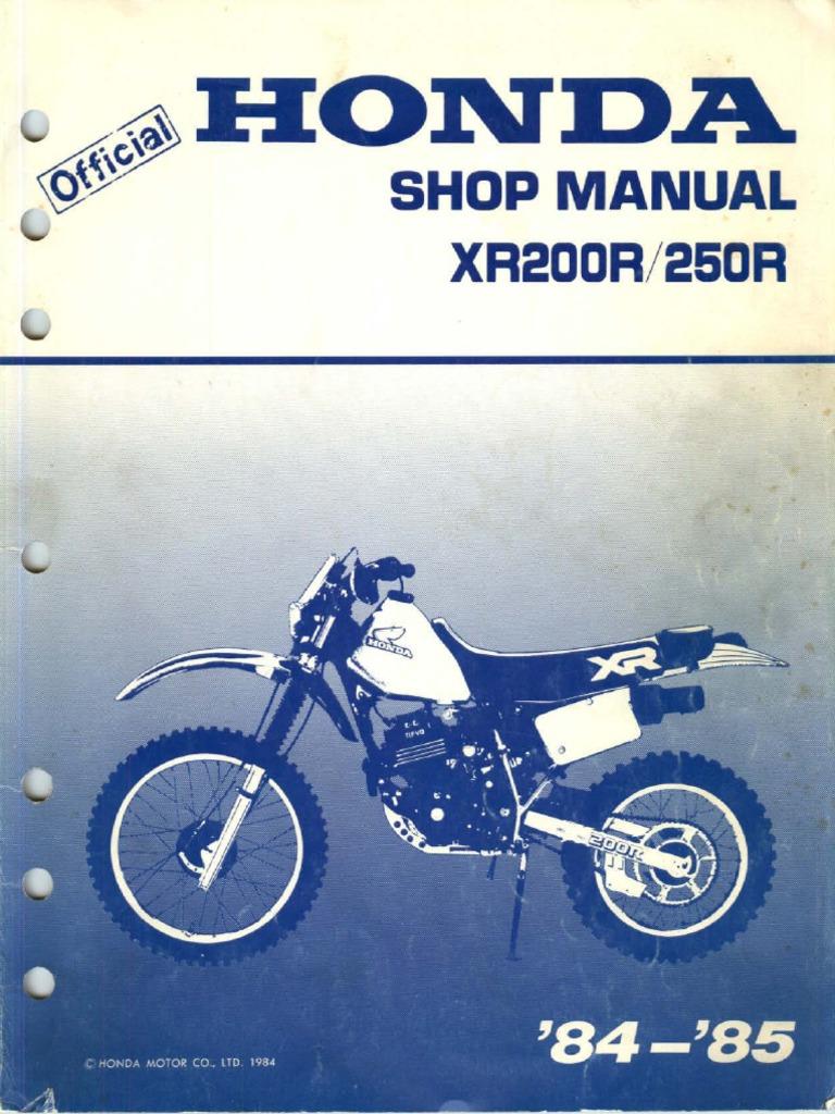 Ebook-0704] honda xr200 repair manual pdf   2019 ebook library.