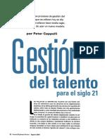 01 HBR Agt 2008 CAPPELLI Gestion Del Talento Humano Para El Siglo 21