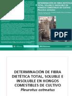 DETERMINACIÓN DE FIBRA DIETETICA TOTAL, SOLUBLE E INSOLUBLE EN HONGOS COMESTIBLES  PLEUROTUS.pdf