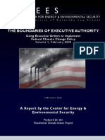CEES Presidential Authority Climate B4 Obama Elected