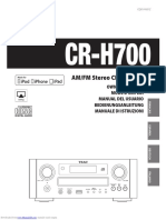 TEAC CR-H700 Instrucciones