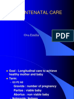 Antenatal Care-Ova Emilia (2016)