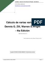 Calculo de Varias Variables Dennis a29096