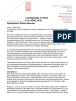 Misdiagnosis and Dual Diagnoses of Gifted Children