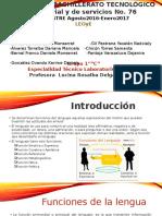 Funciones de La Lengua(Leoye)