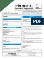 Boletín Oficial de la República Argentina, Número 33.458. 09 de septiembre de 2016