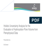 Holistic Uncertainity Analysis for the Evaluation of Hydrocarbon Pore Volume From Petrophysical Data