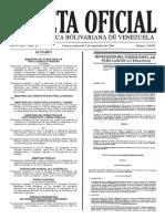 Gaceta Oficial Número 40.983 de la República de Venezuela, 07 de septiembre de 2016
