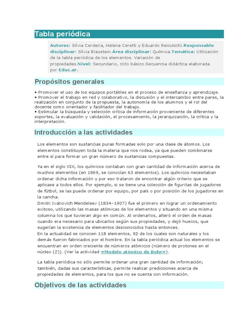 tabla peridica - Tabla Periodica Y Sus Caracteristicas