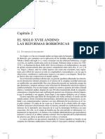 Cap II El Siglo XVIII Andino Reformismo Borbónico