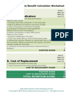 Employee Cost Benefit Worksheet