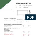 Diseño Puente Losa  ( Ing (Autoguardado).xls