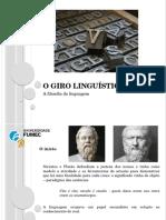 Giro Linguistico Em Gadamer