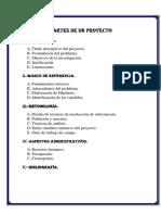 Estructura de Un Proyecto de Investigacion
