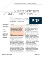 Rapid Sequence Induction in Urgent Care Settings