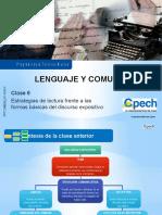Clase 6 Estrategias de Lectura Frente a Las Formas Básicas Del Discurso Expositivo 2015 (INTRANET)