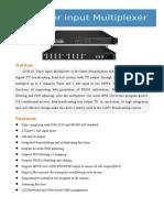 DVB-S2 Tuner Input Multiplexer SPEC Netural