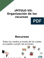 Organización de los recursos en la clase de lengua.
