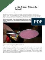 Gelatina Un Alimento Para La Salud