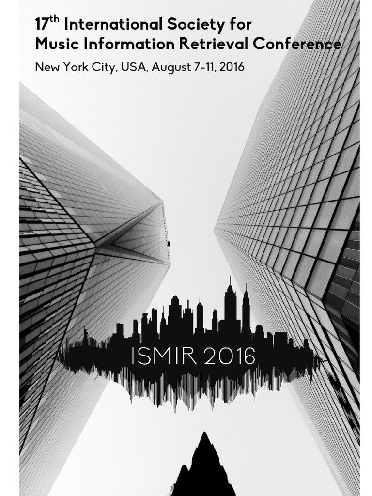 2016 Proceedings ISMIR | New York | Artificial Neural Network