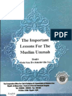 The Important Lessons For The Muslim Ummah