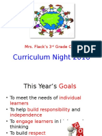 Curriculum Night 2016