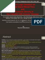 Effect of Lugol Solution on Thyroid Gland Blood Edited