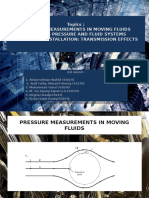 Pressure Measurement of Moving Fluid