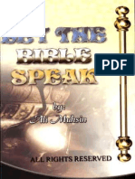 LET THE BIBLE SPEAKSPEAK