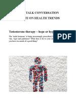 Topic 5 Free Talk Conversation Health