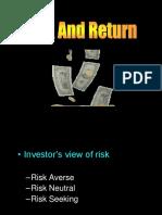 Risk and Return & Portofolio - Materi Pascasarjana - Christian Herdinata