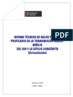 Norma Tecnica de Vih Sifilis Congenita 2011 Gtr
