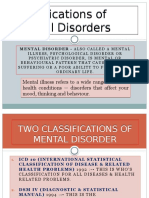 Classification of Mental Disorder, Antisocial Personalities, Drug and Alcohol Dependence