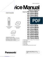 Panasonic kxtg3411bxh service manual