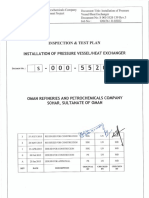 ITP for Installation of Pressure Vessel, Heat Exchanger - Rev. 3