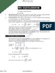 Ionic Equilibrium Notes