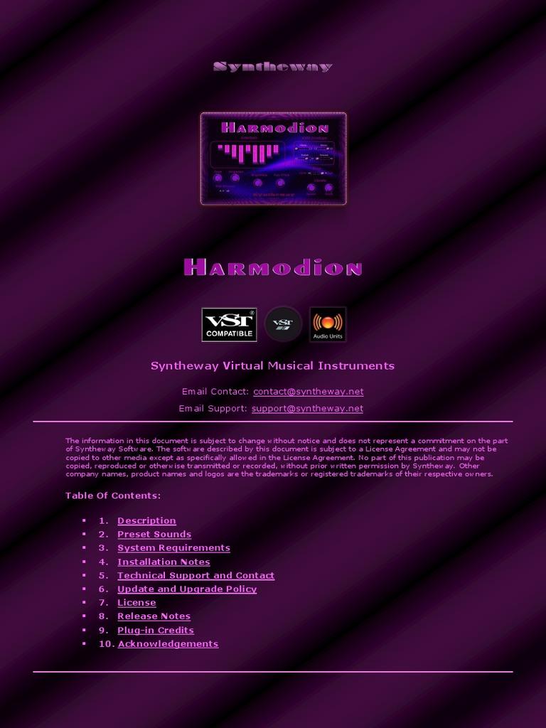 Harmodion VST VST3 Audio Unit: Clonewheel Drawbar
