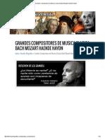 Grandes Compositores de Musica Clasica Bach Mozart Haende Haydn
