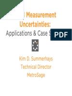 CMM Measurement Uncertainties Applications Case Studies