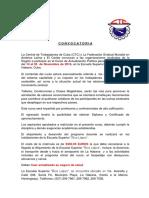 Convocatoria Curso Actualización Política en La Habana Noviembre. 2016