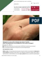 'Dengvaxia', La Cura Contra El Dengue Que Urge en Yucatán - La Verdad Noticias