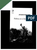 Política de la literatura, Ranciere.pdf