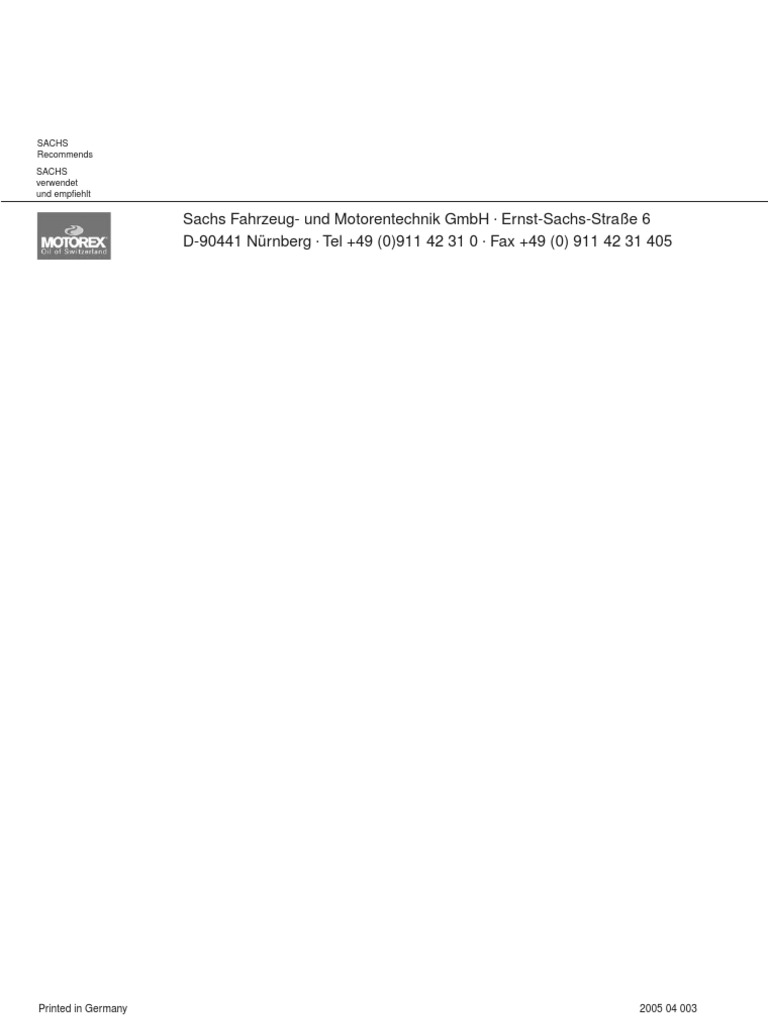 Sachs Madass 125 Service Manual