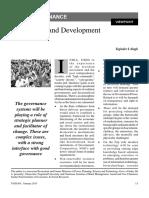 2. Governance and Development