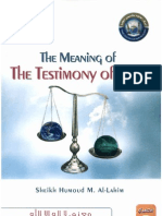 The Meaningof the Testimony of Faith