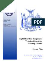8-Hour Pre-Assignment Training Course