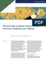Preserving Combat Power