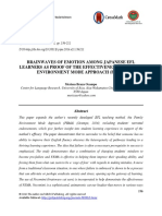 Brainwaves of Emotion Among Japanese Efl Learners as Proof of the Effectiveness of Family Environment Mode Approach (Fema)
